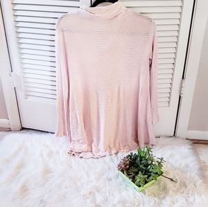 Free People ribbed open back tunic top M